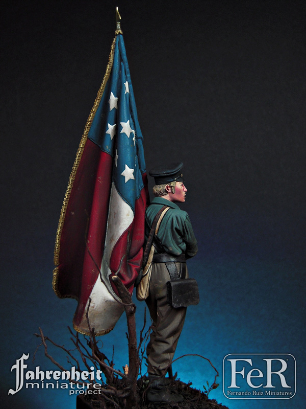 1//32 54MM 15th Alabama Soldiers American civil war resin models