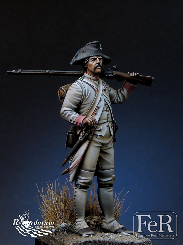 French Chasseur34 eme Reg  TouraineYorktown, 1779