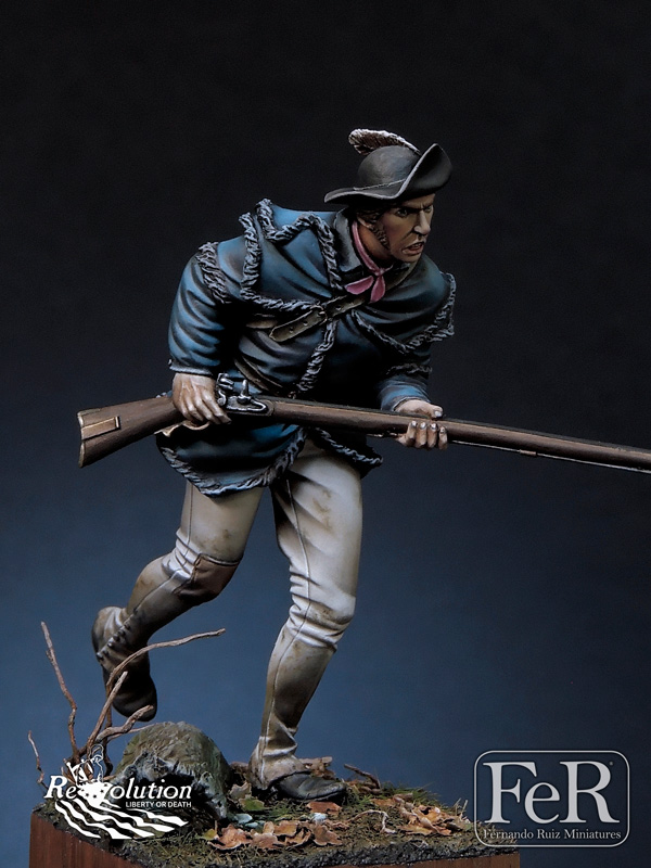 1//24 Resin Model Kit Figure US Army American Revolutionary War Soldier Musket